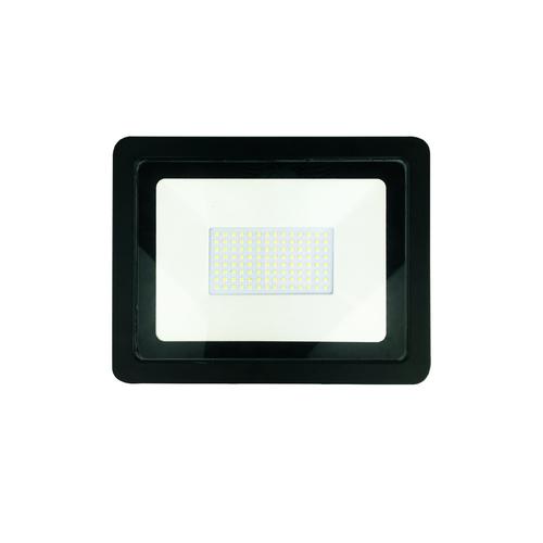 Fekete 150W-os LED reflektor. Szín: 4500K IP65