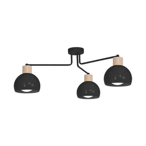 Fekete Capri fekete csillár 3x E27