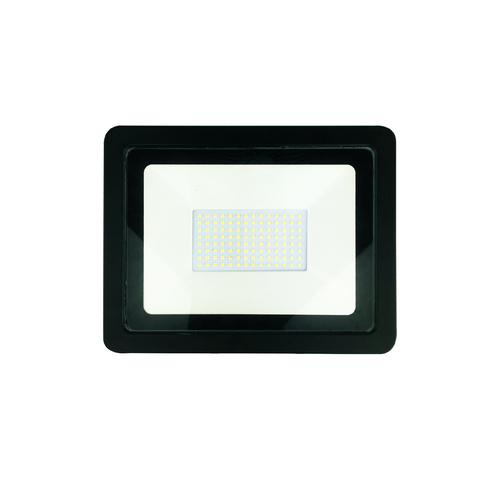 Fekete 100W-os LED reflektor. Szín: 6000K IP65