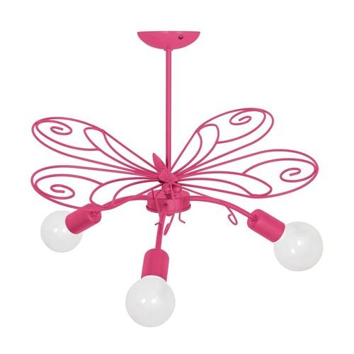 Butterfly 2 csillár sötét rózsaszín 3x E27