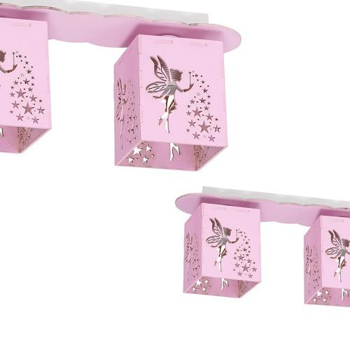 Mennyezeti lámpa Fairy Pink 3x E27 60 W