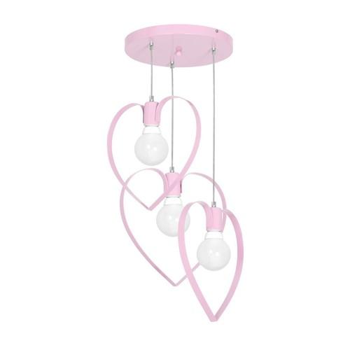 Függőlámpa Amore Pink 3x E27
