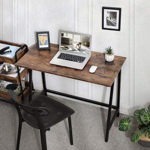 Rusztikus barna számítógép asztal LWD40X small 4