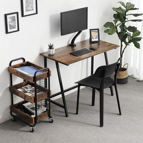 Rusztikus barna számítógép asztal LWD40X