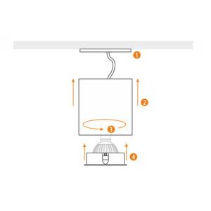 Fehér Cilo Downlight Tube small 4
