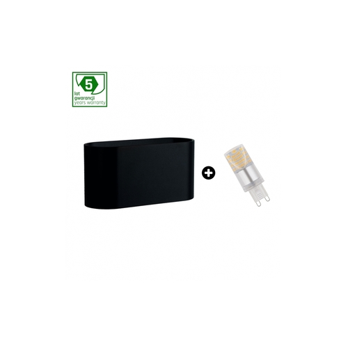 5 éves garanciális csomag: Squalla G9 Black + Led G9 4w Nw (Slip006010 + Woj + 14434)