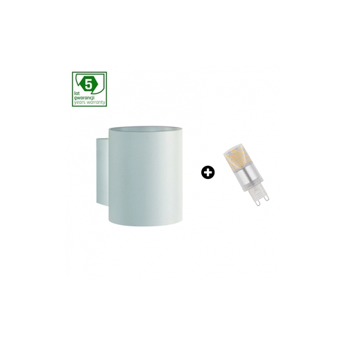 5 éves garanciális csomag: Squalla G9 Tuba White + Led G9 4w Nw (Slip006011 + Woj + 14434)