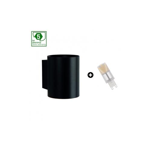 5 éves garanciális csomag: Squalla G9 Tuba Black + Led G9 4w Ww (Slip006012 + Woj + 14433)