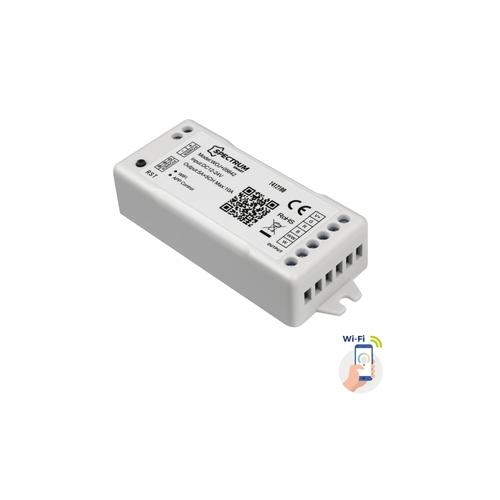 Vezérlő LED-csíkokhoz Rgbw + Cct + Dimm 12 / 24v DC 120w / 240w Wi-Fi Spectrum Smart