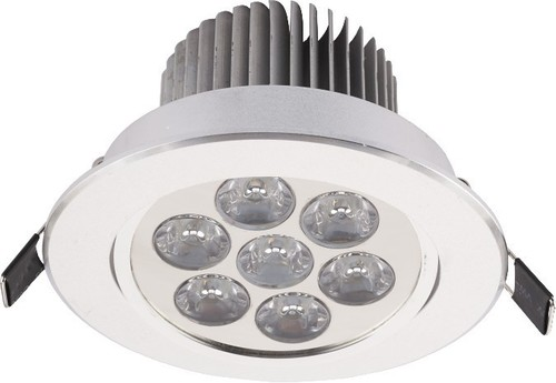 Lámpatest. DOWNLIGHT LED VII EZÜST