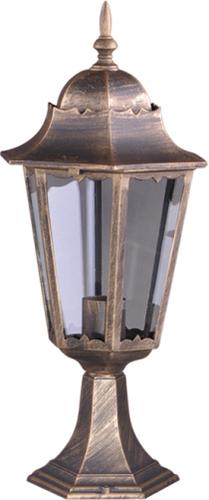 Alacsony kültéri K-5006S fekete / arany álló lámpa a LOZANA sorozatból