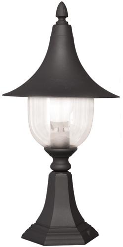 Alacsony K-8133 fekete kültéri álló lámpa a BOSTON sorozatból