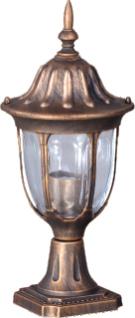 Alacsony kültéri álló lámpa K-5007S2 / N fekete / arany a VASCO sorozatból