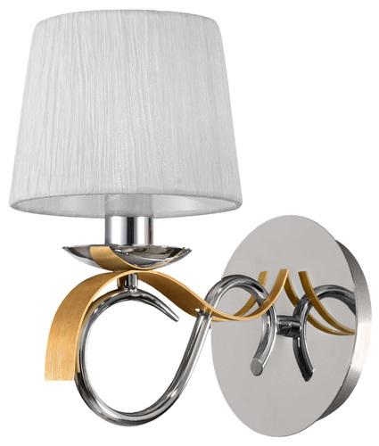 Denis lámpa fali lámpa 1X40W E14 króm / arany + lámpaernyő ugyanaz az index