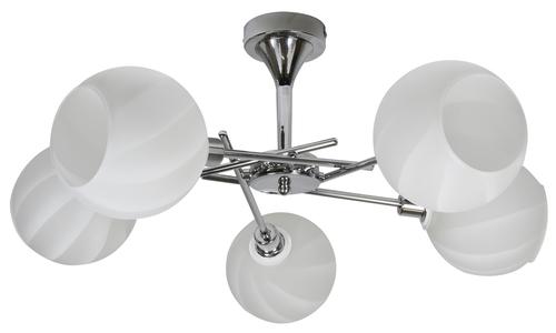 Raul csillár 5X40W E14 króm, fehér lámpaernyő