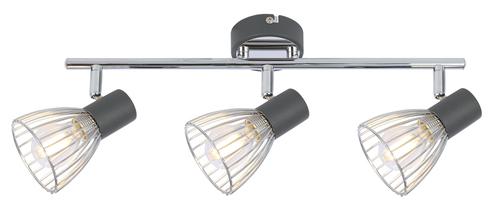 Modo mennyezeti lámpa szalag 3X40W E14 fekete + króm