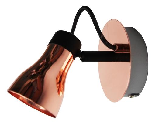 Angus lámpa fali lámpa 1X50W Gu10 fekete + réz