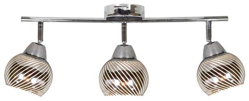 Fort mennyezeti lámpa szalag 3X10W E14 vezetékes króm