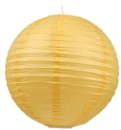 Papír lámpaernyő - Cocoon papírgolyó 50 sárga