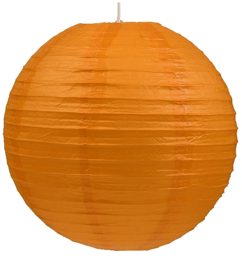 Papír lámpaernyő-kokon papírgolyó 60 narancs
