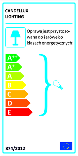 Lógó lámpa koncepció túlnyúlása 2X60W E27 ezüst