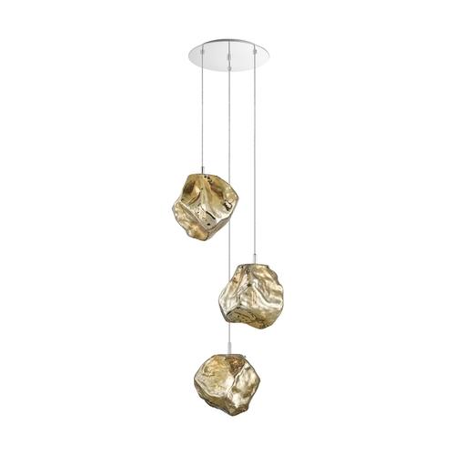 P0488 03 A B5 Hf Rock medál lámpa arany / arany