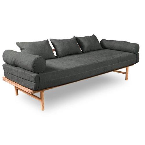Le MAR kanapé kezeletlen fa - szürke