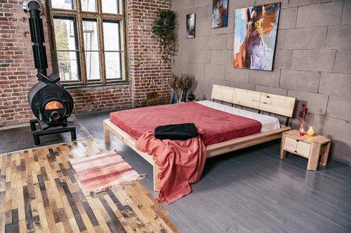Tetőtéri ágy a hálószobába 180x200 olajozott fa (lenmagolaj)