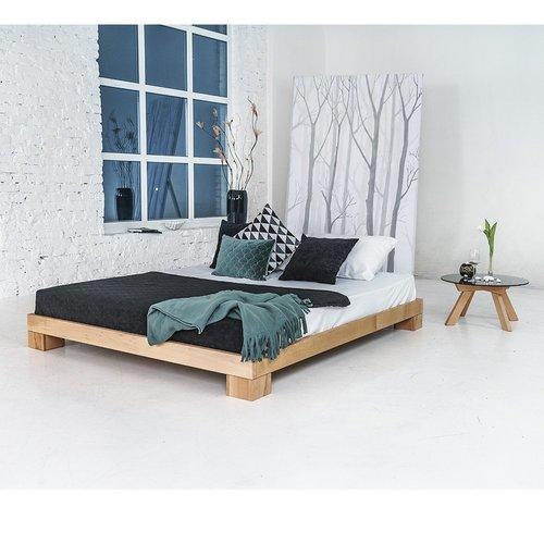 Kocka hálószoba fa dupla 160x200 olajozott fa (lenmag olaj)