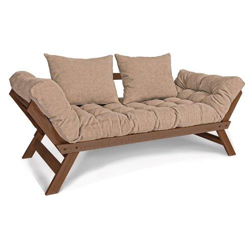 Allegro kanapé - fekvő kanapé - dió (lenmagolaj) - bézs