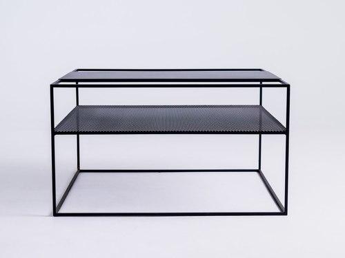 MATRIX METAL 80 dohányzóasztal - fekete