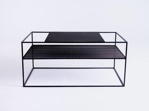 MATRIX METAL 100X60 dohányzóasztal - fekete