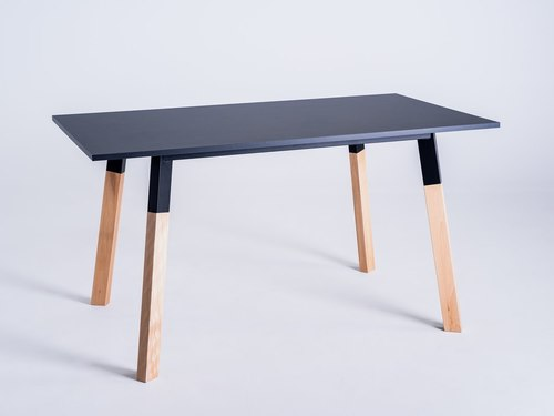 PRATO 140 étkezőasztal - fekete