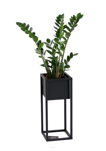 LOFT virágállvány, fém padlóállvány, CUBO 50 cm, fekete