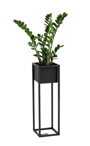 Loft virágállvány fém növény állvány CUBO 70cm fekete loft doboz