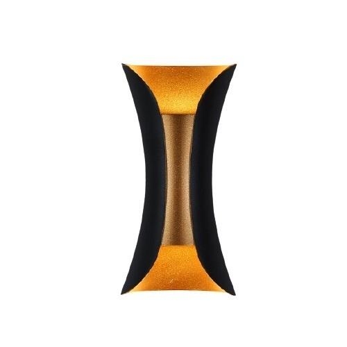 Fali lámpa Abigali Black-Gold IP65 2x5W 3000K