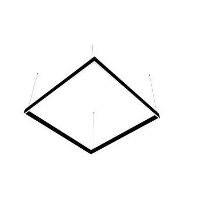 Lineáris LED lámpa Abigali Square System szimpla oldalsó négyzet 120x120