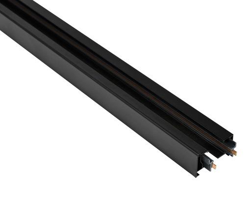 Blaupunkt 1 fázisú STORM sín, 1 m hosszú, végzárókkal, fekete színű