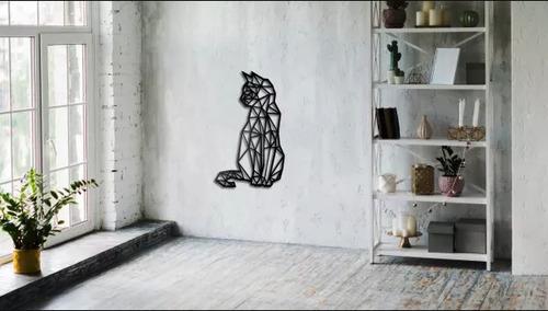 Geometriai macska fal dekoráció