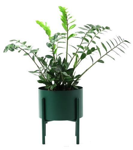 Fém virágágyás MOYENE Exclusive 37cm palack zöld