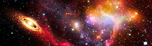 3D falfestmény, kozmosz, Star Wars, csillagok, Tejút, aszteroidák