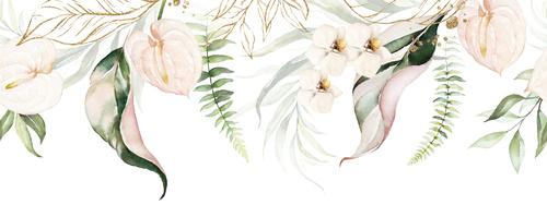 Falikép virágok, fehér, pasztell színek, szüret, csillogás, kopott sikk, finomság