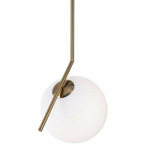 Függesztett lámpa SOLARIS fehér sárgaréz, 30 cm
