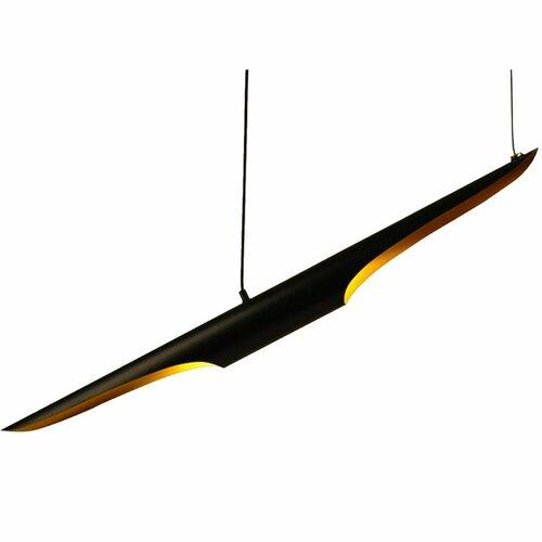Fekete és arany függő lámpa BLACK TUBE 100 cm