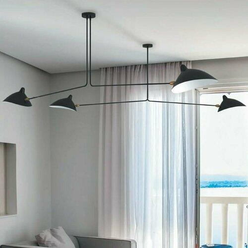 Függő lámpa CRANE-2P kétkarú fekete