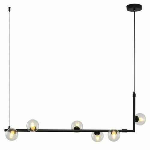 Függő lámpa EGYSZERŰ, fekete, 90 cm