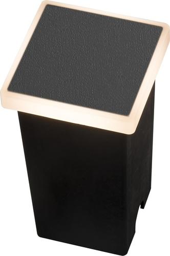 Kerti lámpa Azzardo ALF SQUARE 3000K BK