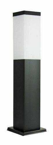 Álló kerti lámpa SUMA INOX KWADRATOWA BLACK 44 cm