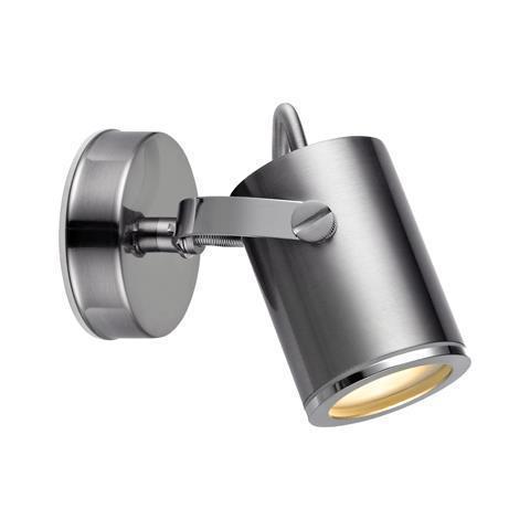 LUX fali lámpa Spot 1L IP44 Acél
