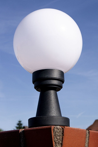 Kerti lámpa Luna Ball Plinto 20 cm E27 LED fehér talapzat